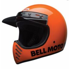 casque Bell orange classic sur elya's motorshop