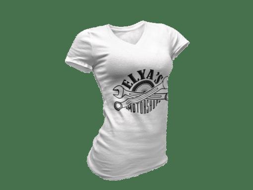 T-shirt femme vintage blanc