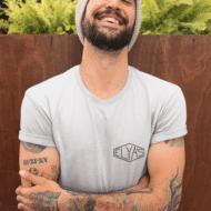T-shirt Elya's LOGO Homme gris
