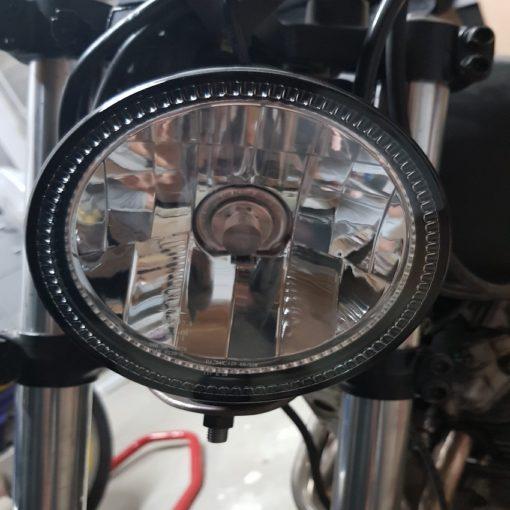 Phare moto Bihr LED monté